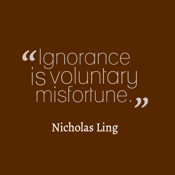 sheer ignorance meaning