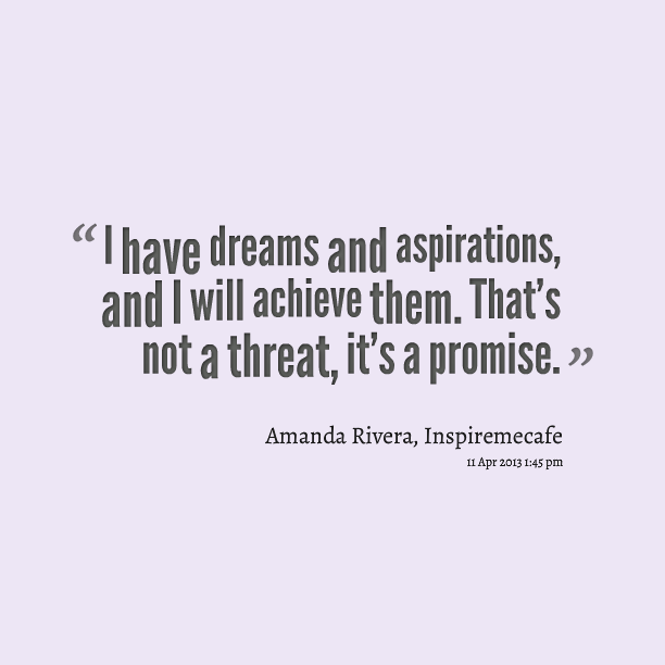 an essay about dreams and aspirations