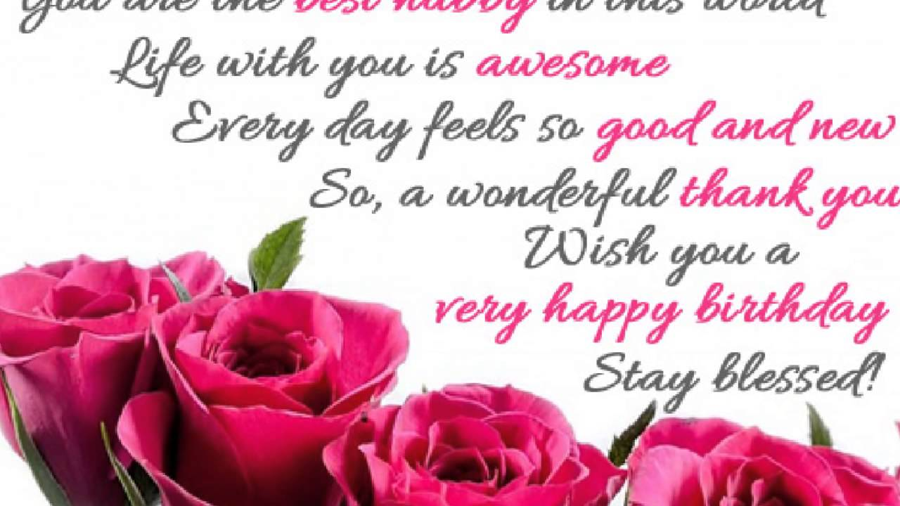 Birthday Quotes For Husband | Quotes About Birthday For Husband 34 Quotes