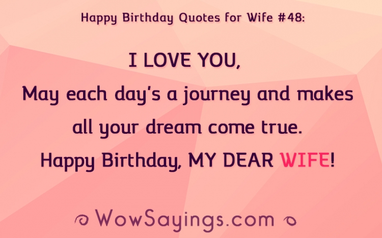 Tremendous Quotes About Birthday Wife 40 Quotes Personalised Birthday Cards Paralily Jamesorg