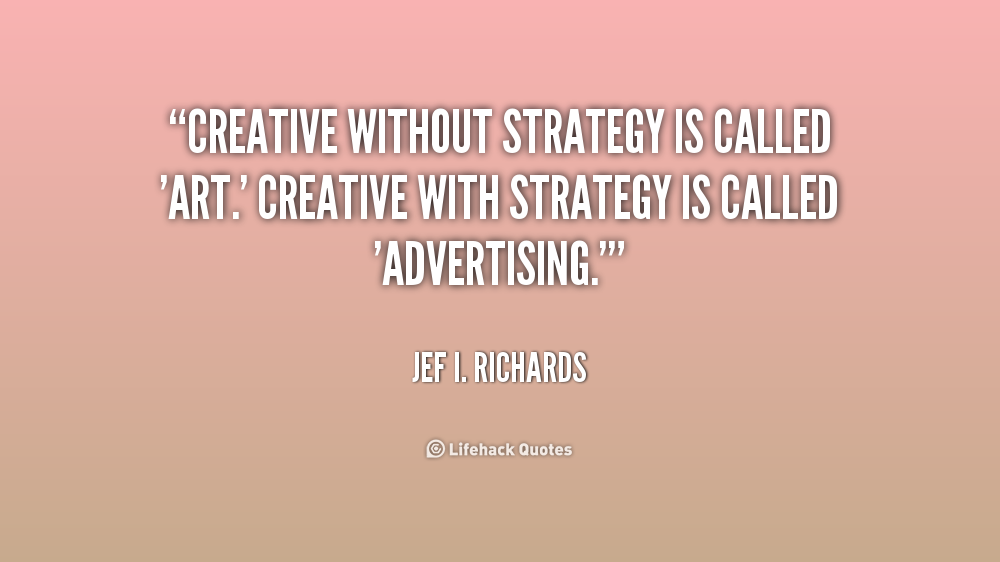 how to write an advertising strategy