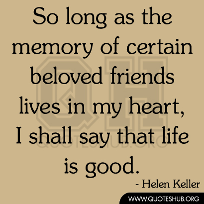 Quotes About Friends Memory
