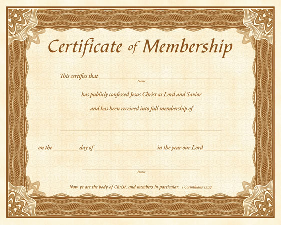 Quotes about Church Membership 37 quotes – Life Membership Certificate Template