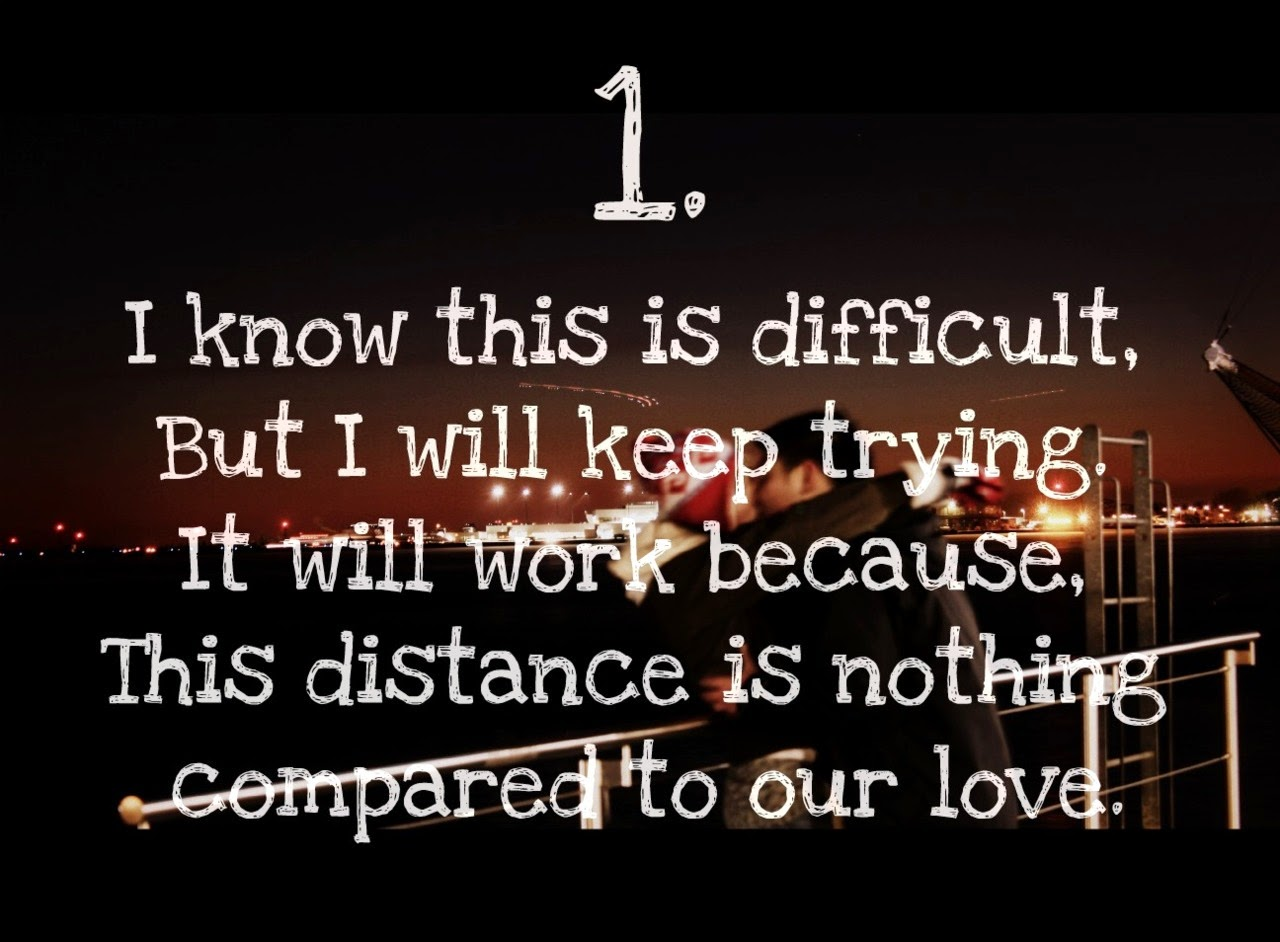 Her monthsary message long distance relationship for 11 Ways