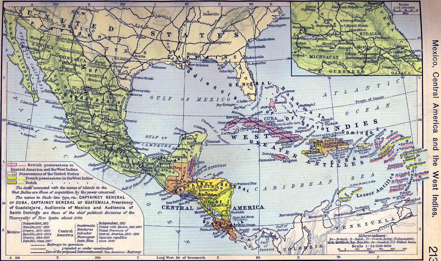 Political Map Of Central America And The Caribbean%0A cover letter for scientific position