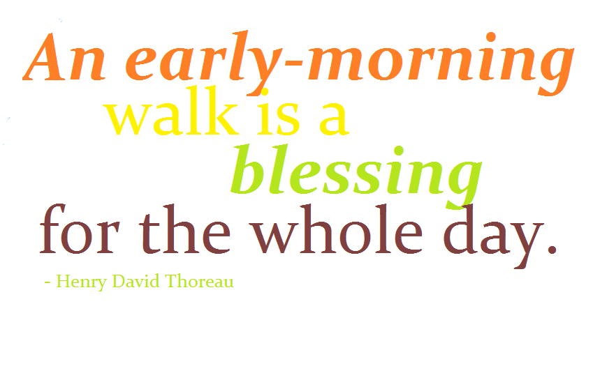 Quotes about Early morning walks (24 quotes)