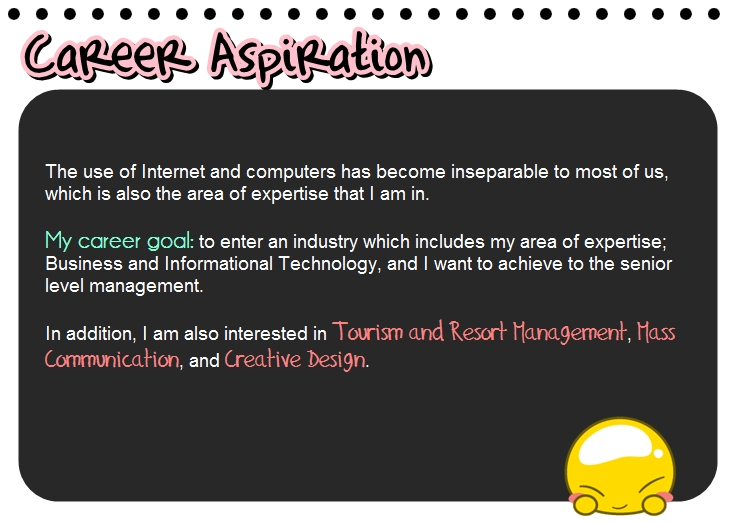 essay on what are your career aspirations