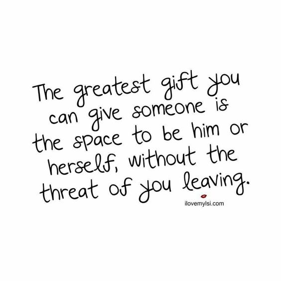 Quotes about Giving him space (19 quotes)