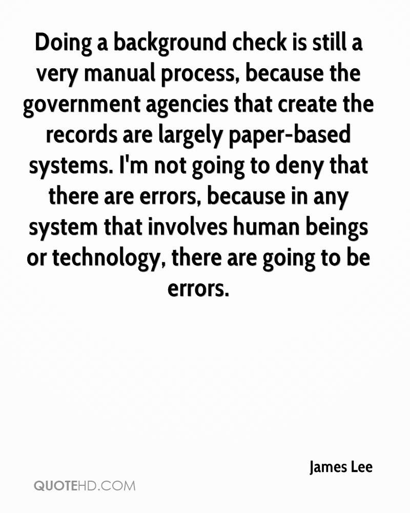 Quotes about Background checks (5 quotes)
