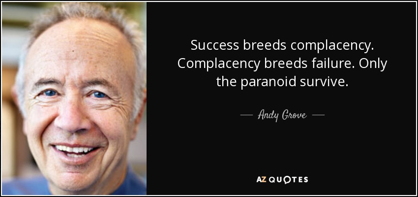when success breeds failure the role