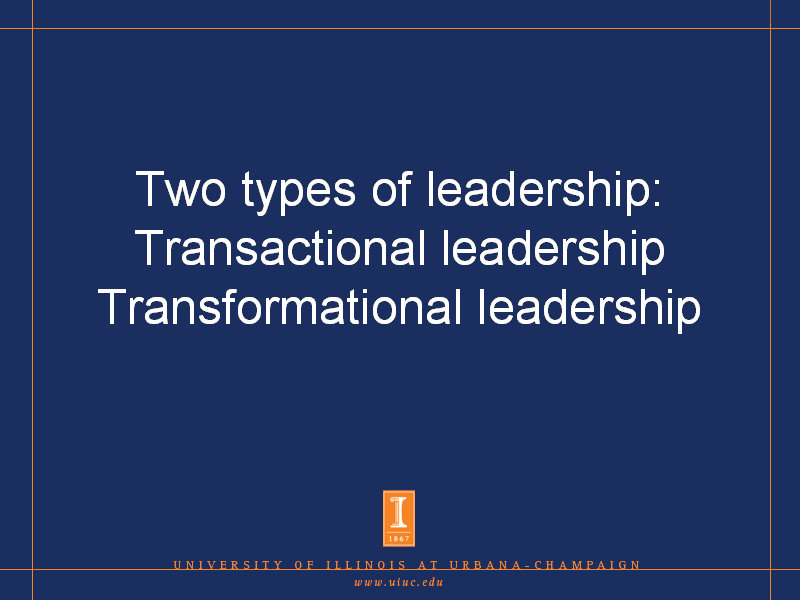 essay on transformational leadership style Read this full essay on transformational versus transactional leadership it is believed that for positive leadership in human life, there is a relation on the other hand, transformational leadership is not hooked to the performance of the juniors this is the typical relationship experienced in life.