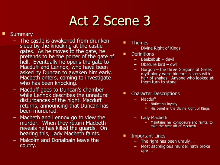 essay questions for macbeth act 2 Macbeth act 1 essays: home » essay » macbeth act 1 lady macbeth, and banquo to bring out aspects of macbeth's character 2 / 420.
