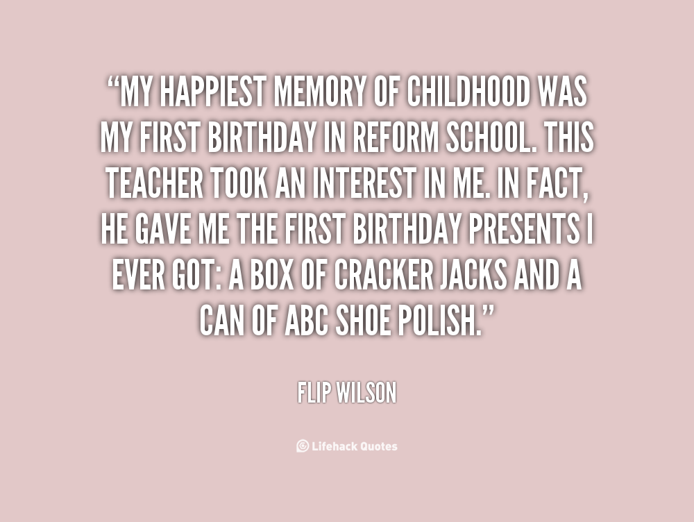 descriptive essay about childhood memory
