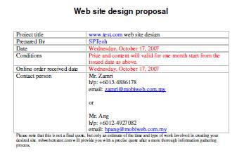 Web Design Quotes Template