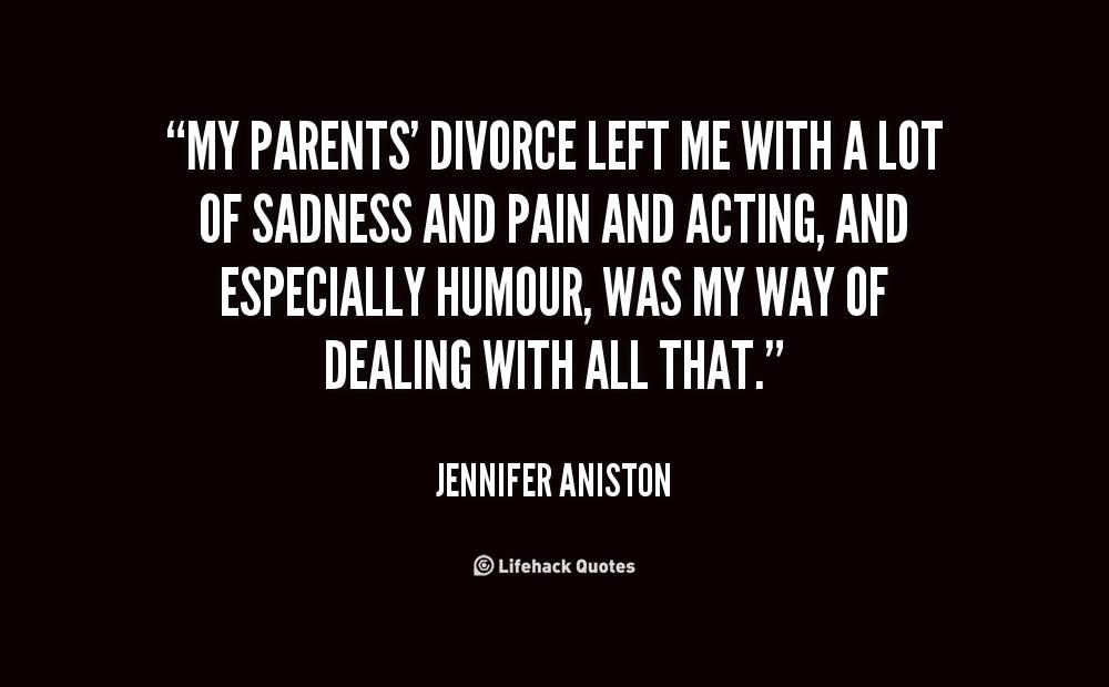 sad quotes about parents divorce