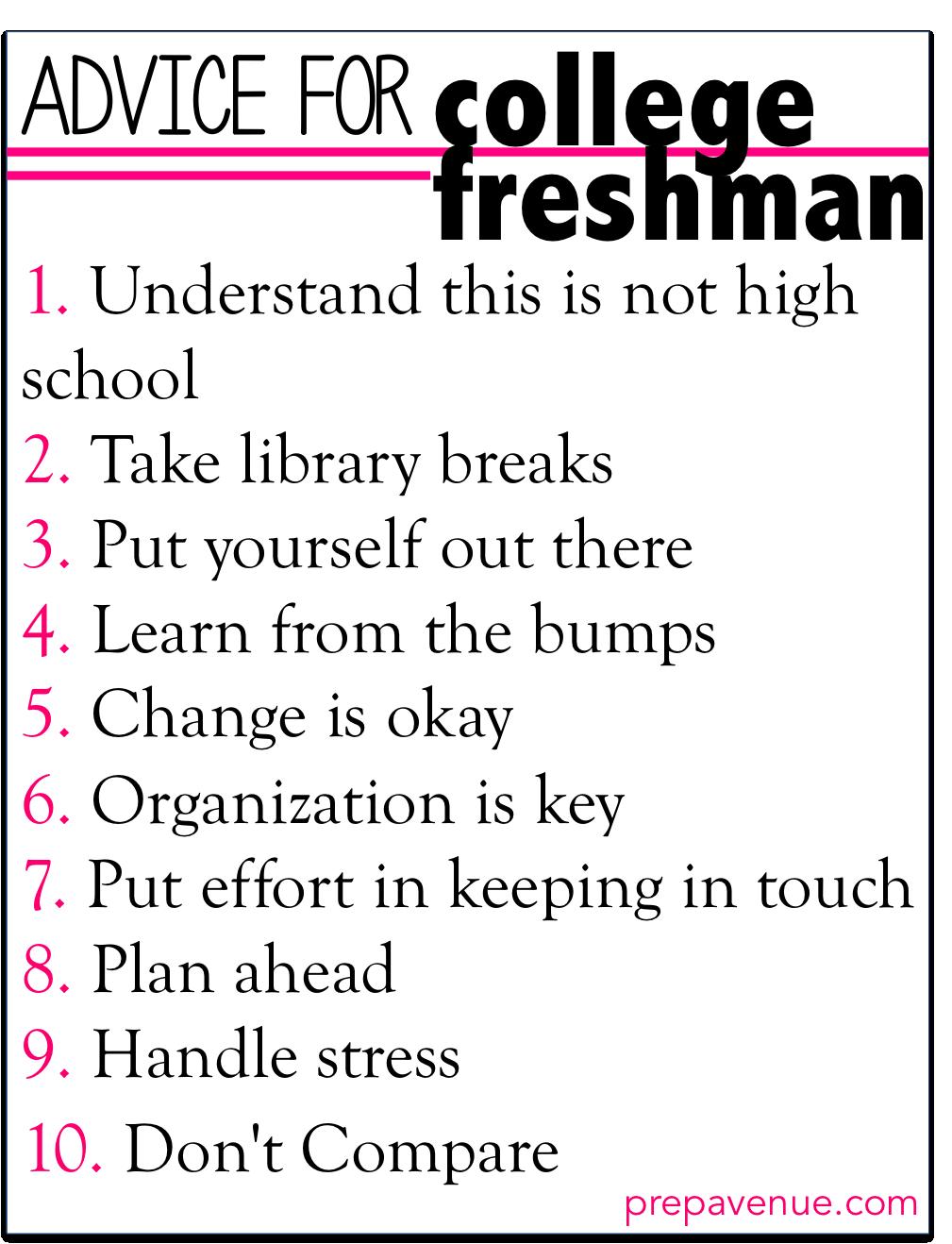 tips for freshmen