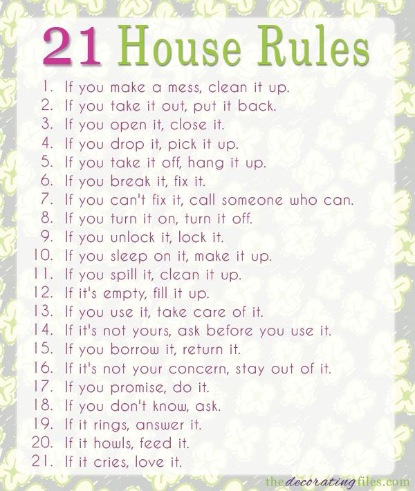 Quotes about House rules (37 quotes)