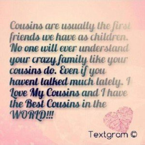 quotes about cousin quotes