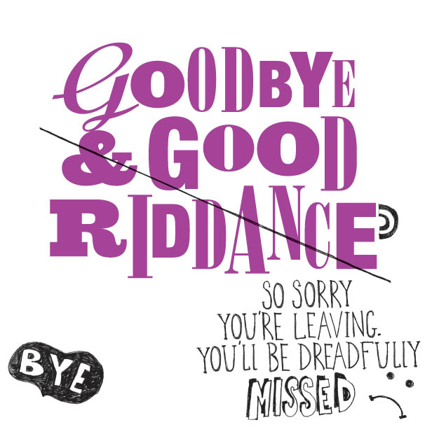 good riddance to bad riddance in the film a clock orange
