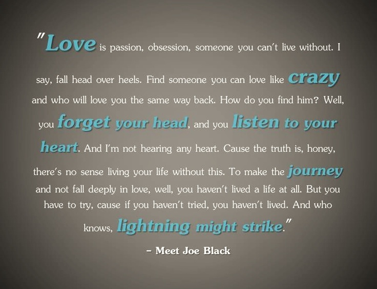Quotes About Meet Joe Black 22 Quotes