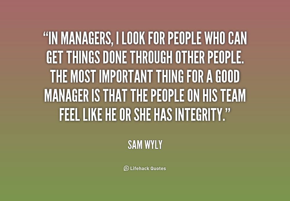 A Good Manager Quote