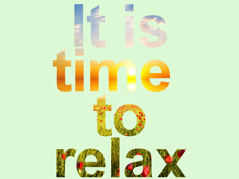 time to relax essay A strong family finds that opportunities for quality time emerge from quantity time: the more time you spend together, the better chance you have of sharing quality experiences.