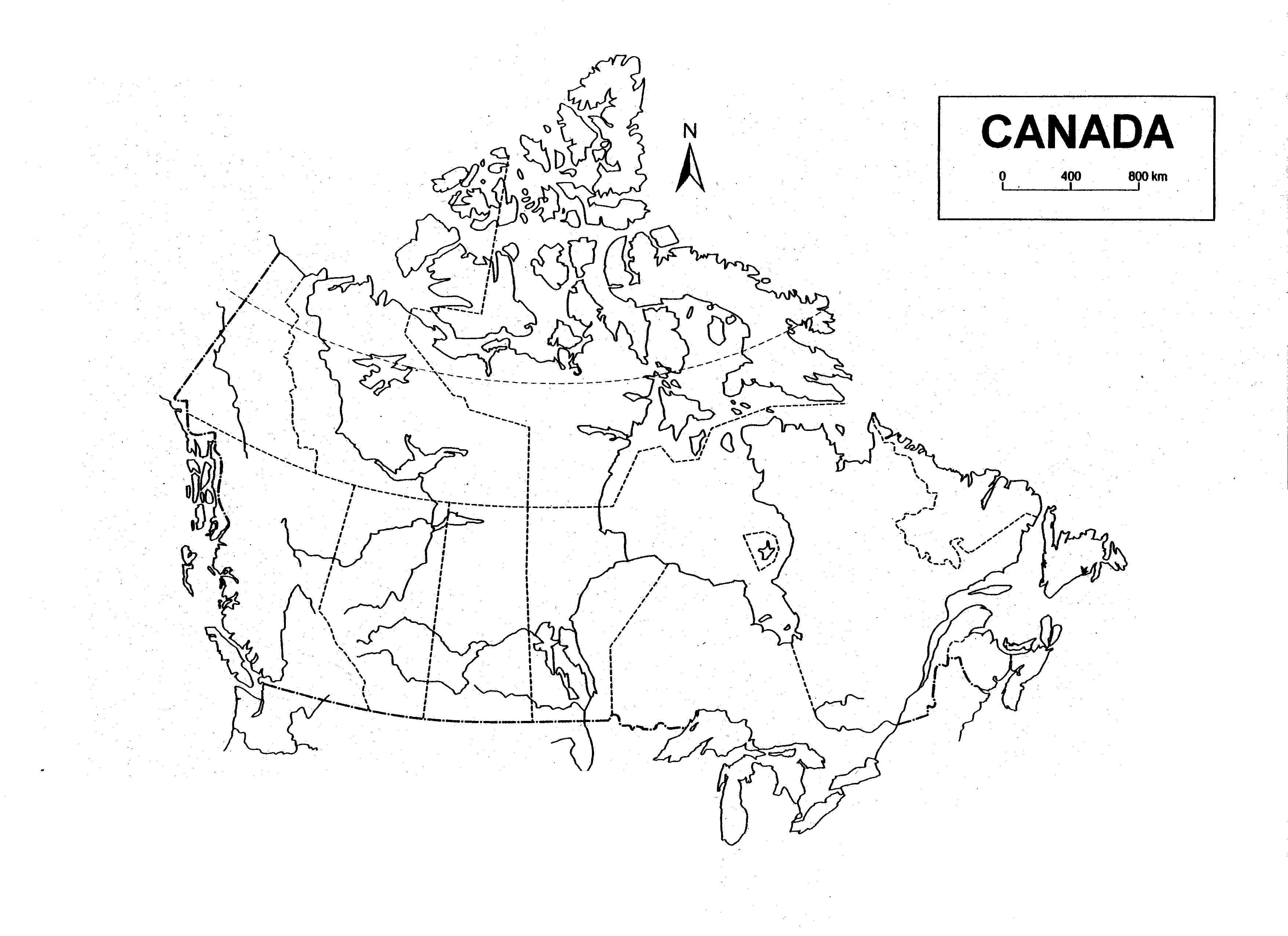 Blank Map Of Canada With Lakes And Rivers.Blank Map Of Canada With Lakes And Rivers