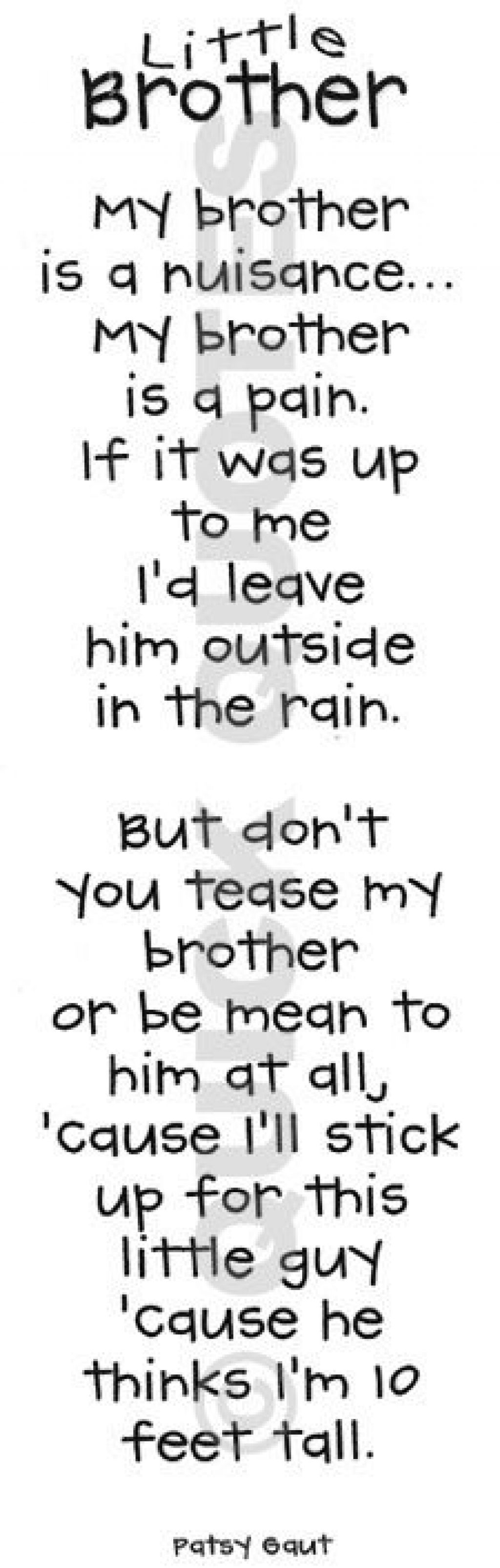 Quotes About My Little Brother 57 Quotes