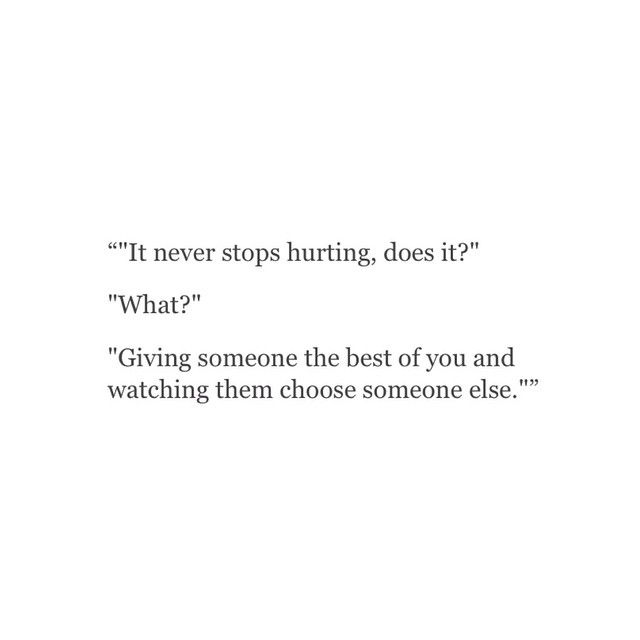 Quotes about Choosing someone else (21 quotes)