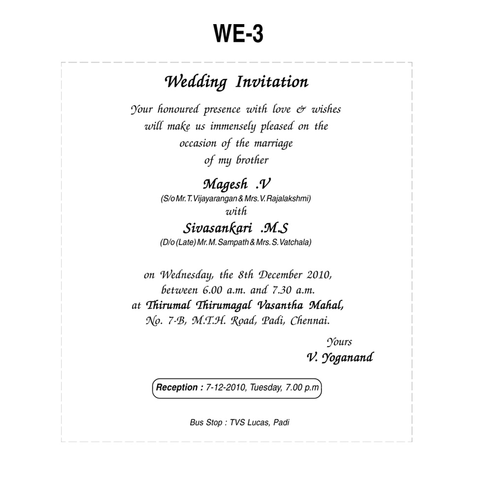 40 Awesome Indian Wedding Reception Invitation Wording Samples From