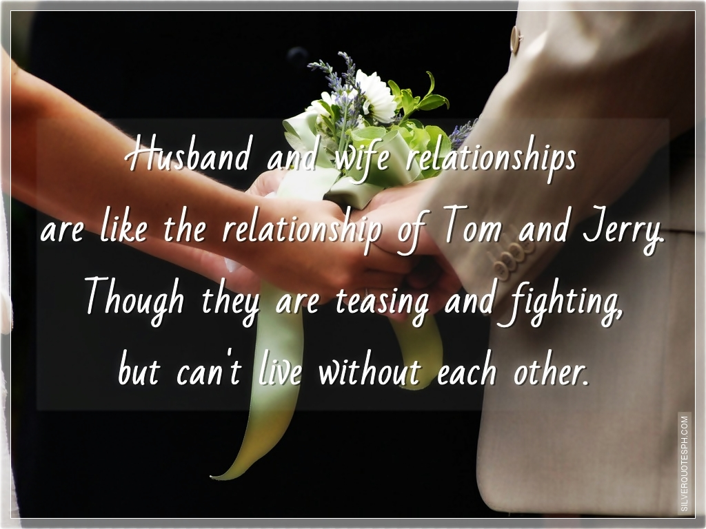 Quotes about Relationship husband and wife (7 quotes)