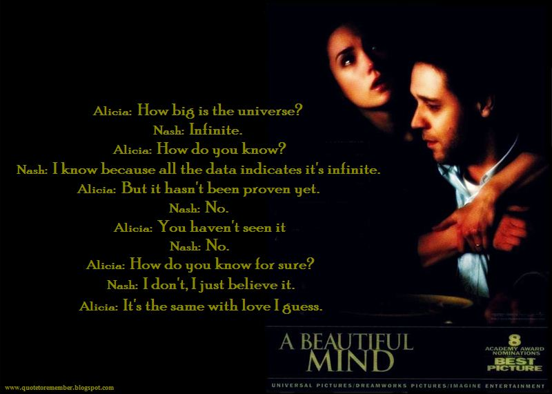 an introduction to the analysis of a beautiful mind Review of a beautiful mind by al siebert, phd the story of nobel prize winner john forbes nash, jr proves that psychiatrists are wrong about schizophrenia being a brain disease like alzheimers and parkinson's.