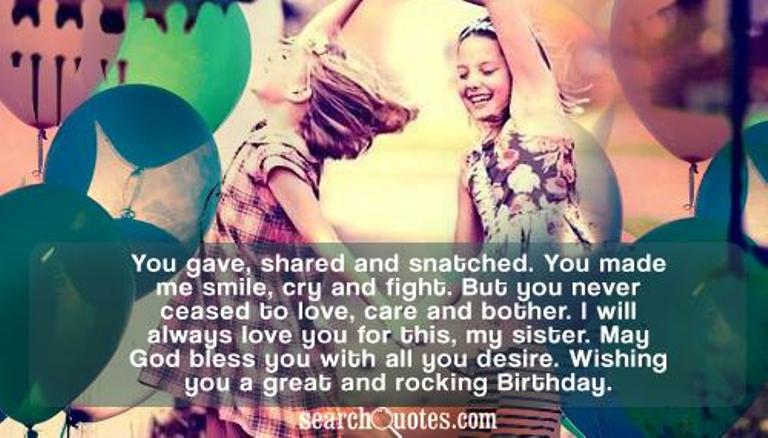 Quotes About My Only Sister 48 Quotes