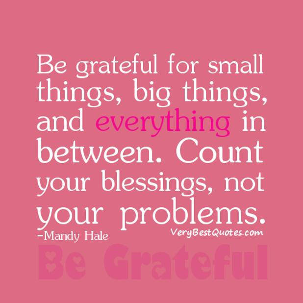 Quotes about Count your blessings (72 quotes)