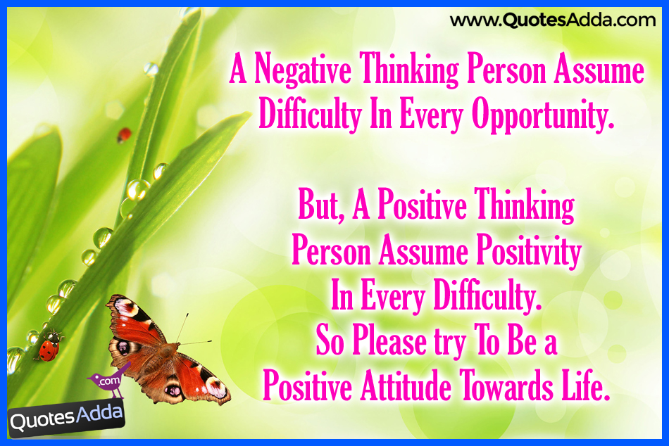 Quotes About Thinking Negative