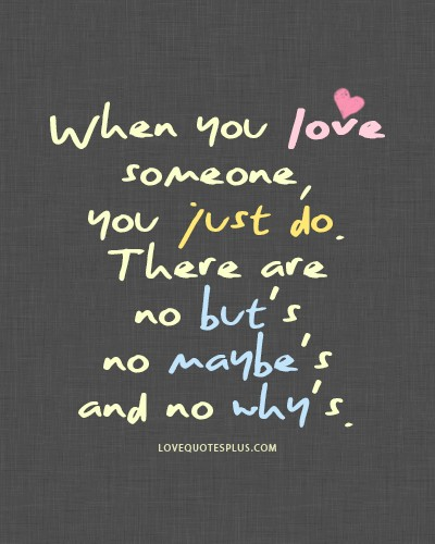 why you love someone