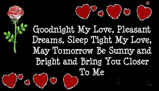 Quotes about Good night love (46 quotes)