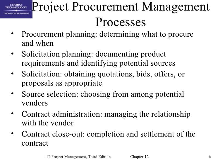 Project procurement management template Research paper Help