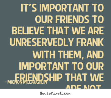 friendship is not important