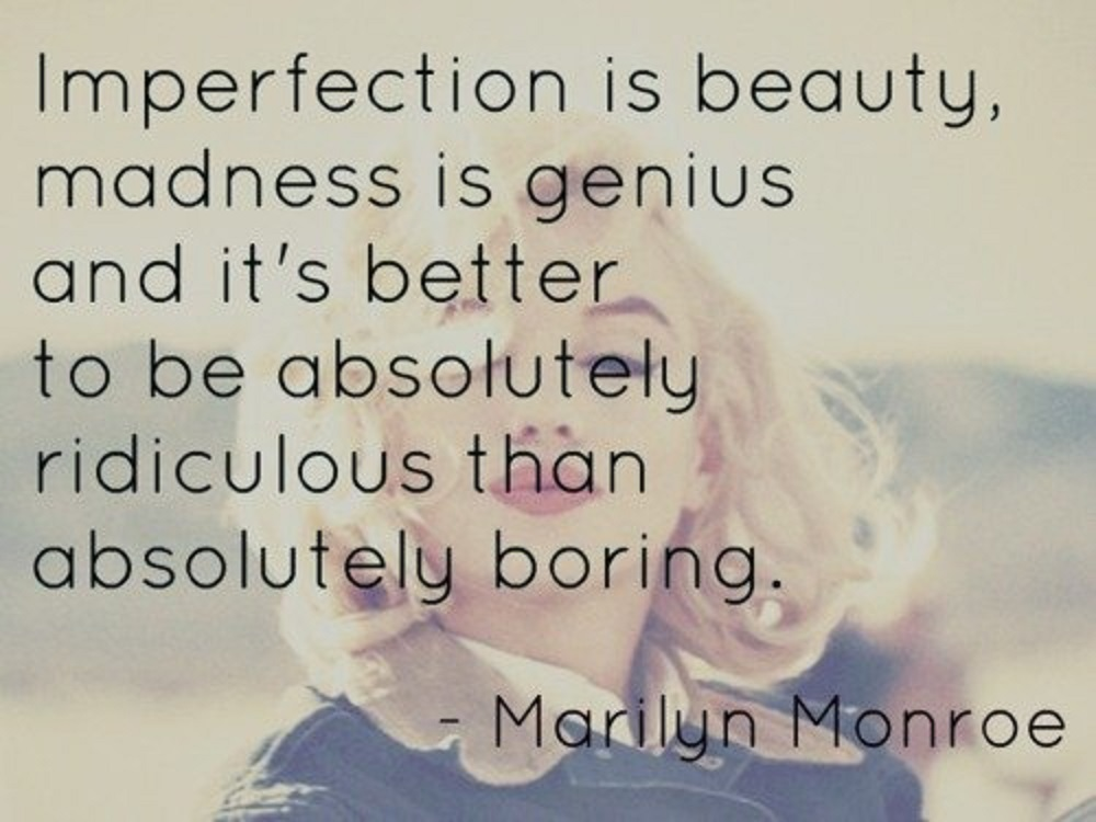a look at perfection through imperfection