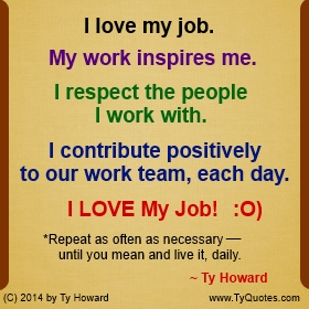 Quotes about Loving your job (22 quotes)