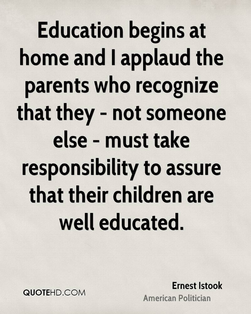 Quotes About Parents Responsible For Children 23 Quotes