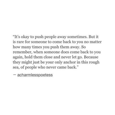 Quotes About Pushing Everyone Away 20 Quotes