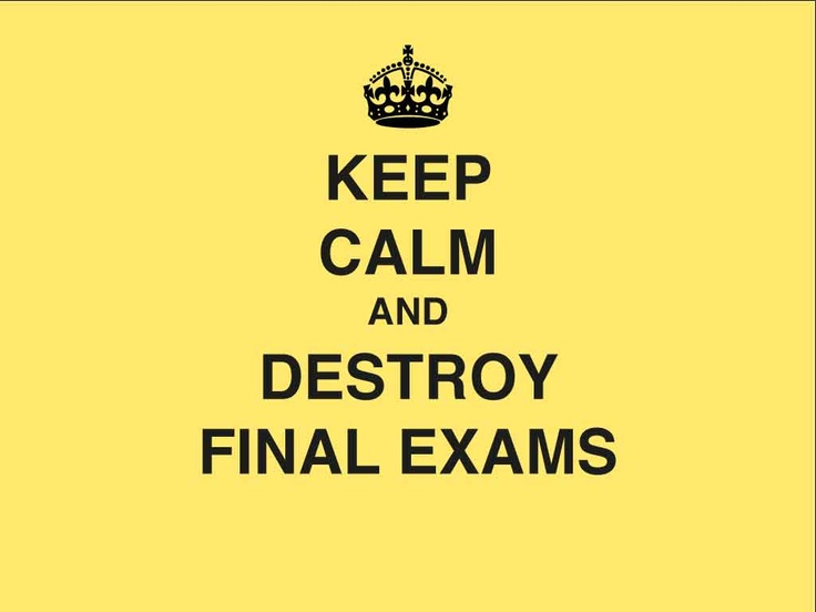 Quotes about Final exam week (20 quotes)