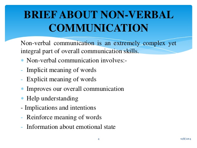 nonverbal communications skills essay