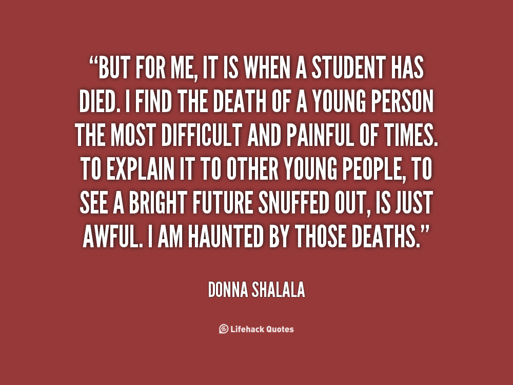 Quotes About Young Person Death 21 Quotes