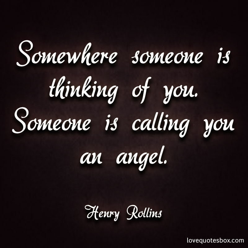 Quotes on thinking of someone