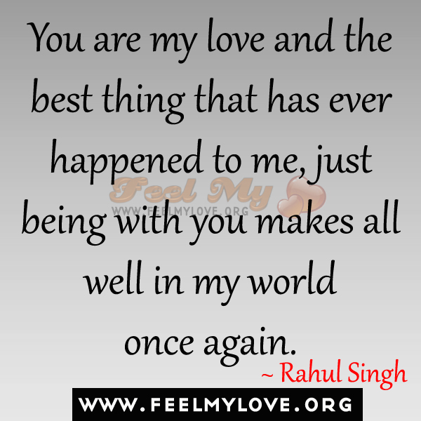 Love is the best thing in the world