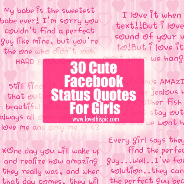 Quotes About Cute Facebook Statuses 18 Quotes