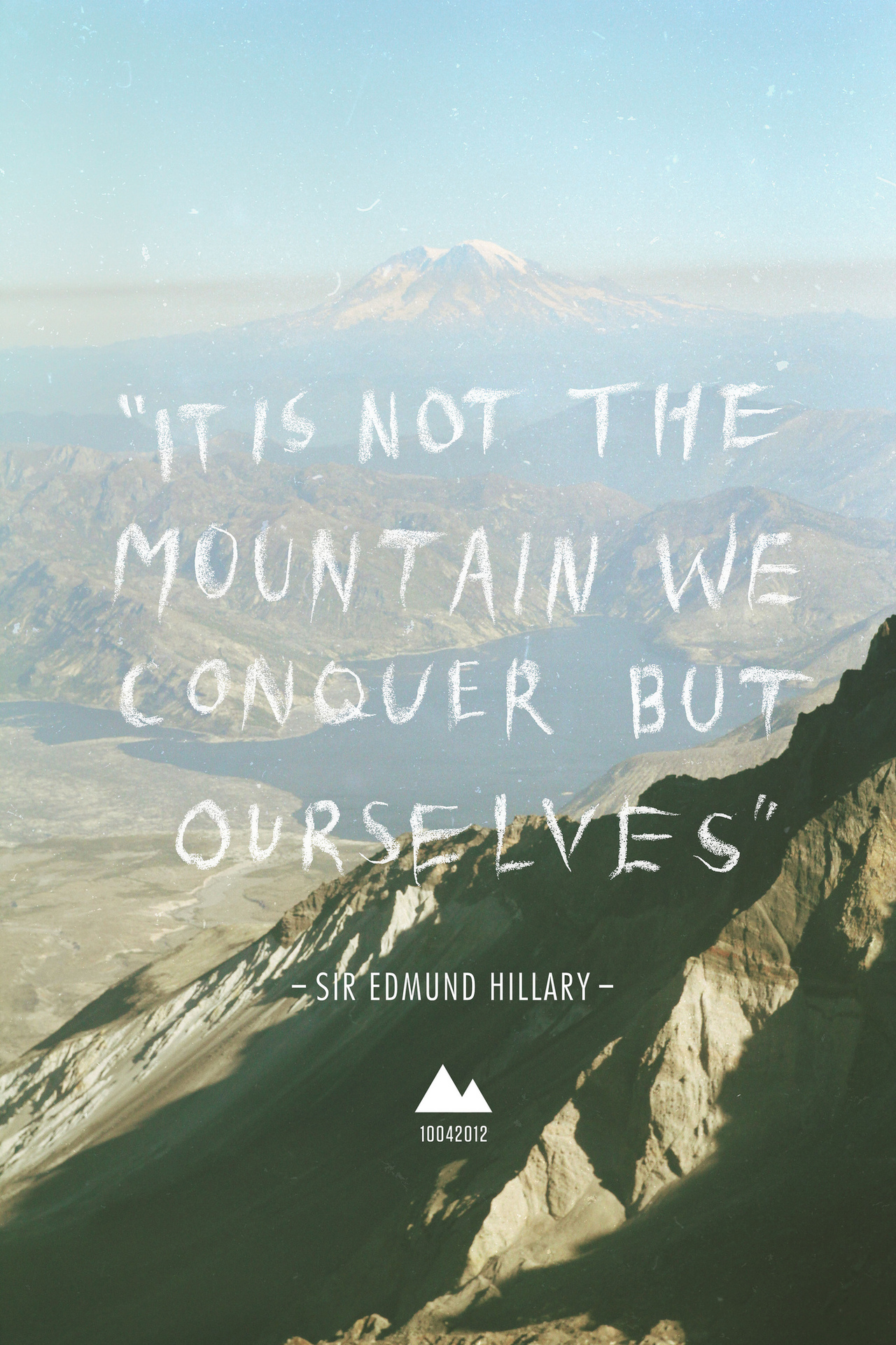 Design poster urging mountaineers preserve pristine glory mountainsides - Quotes About Mount